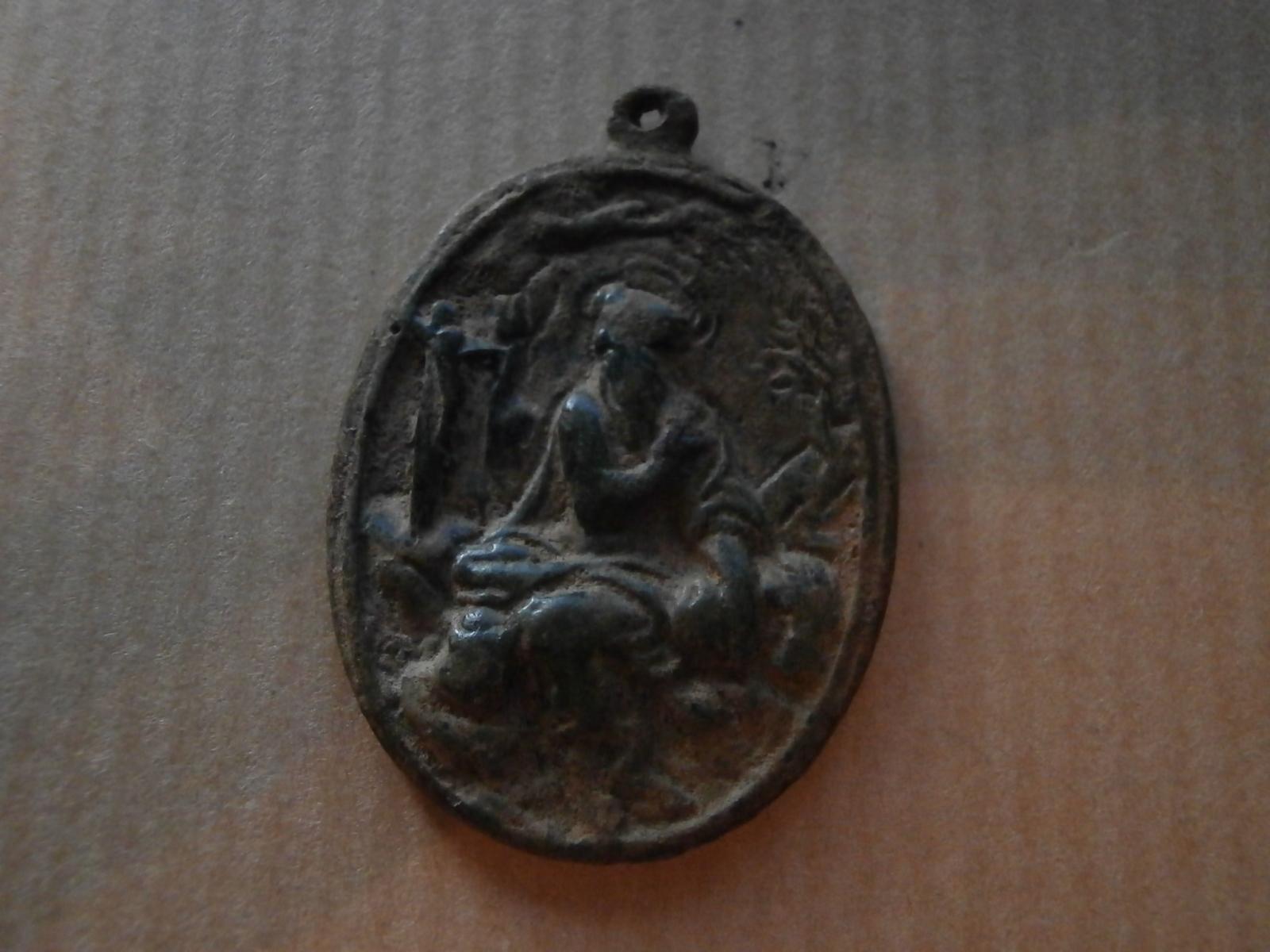 Medalla Virgen de Guadalupe / San Jerónimo de Estridon S-XVII pre-Toisón 2jxp4m