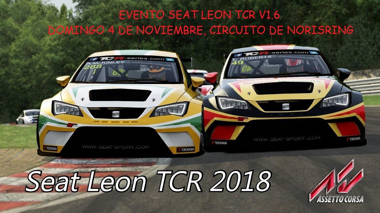 EVENTO SEAT LEON TCR 2018 NORISRING 2mzl24o