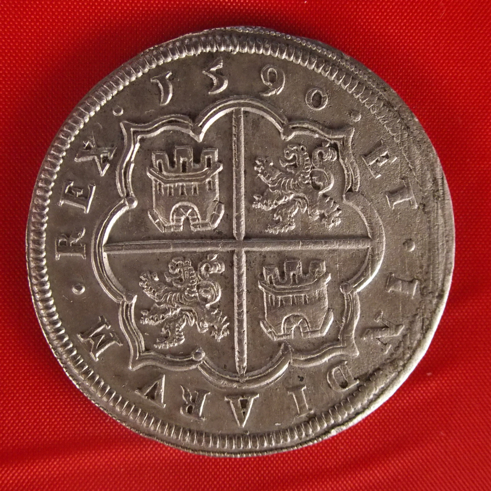 8 reales de 1590. Felipe II, Segovia 2rpzcpu