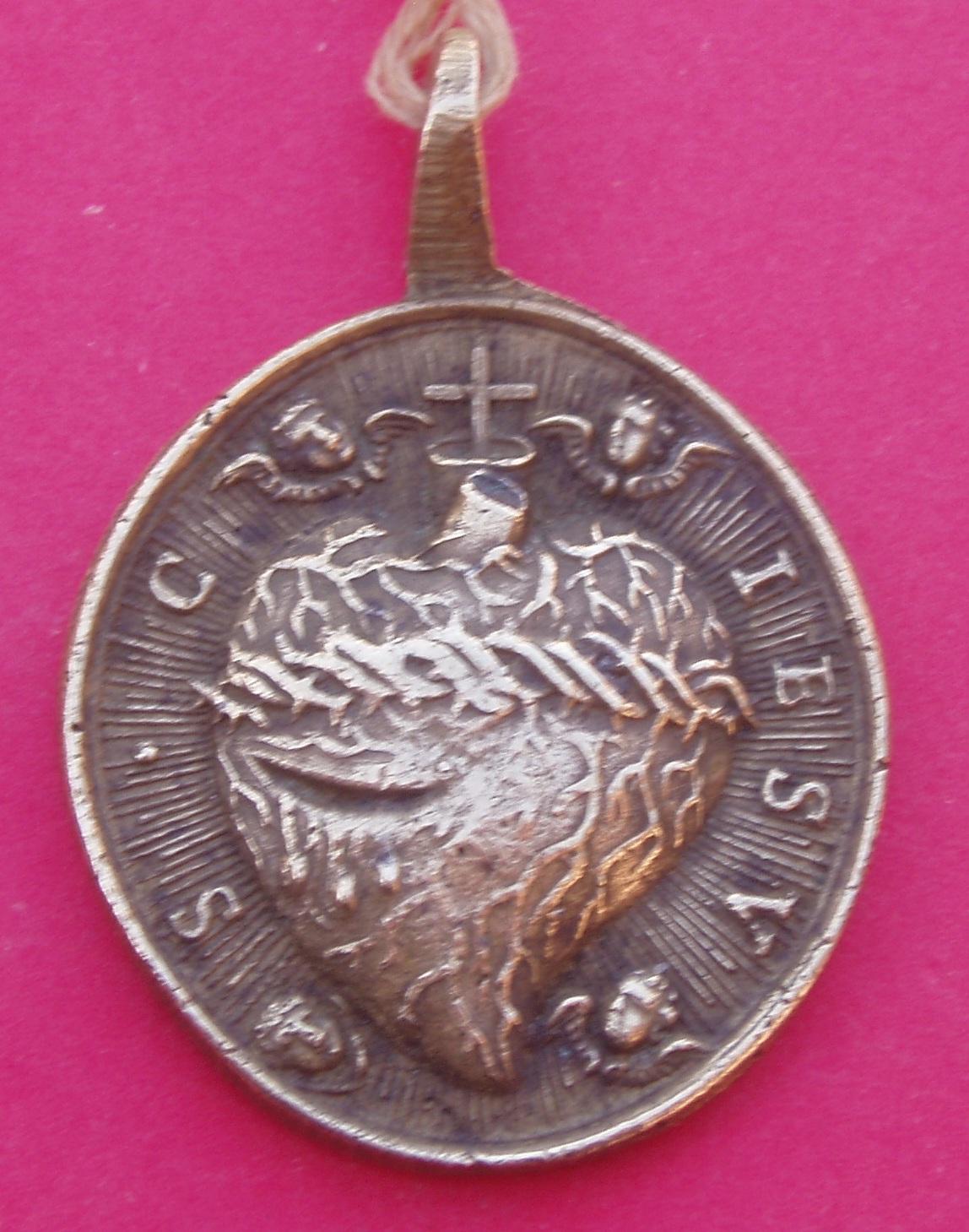 Medalla Corazónes de jesús y María. 2wgg706