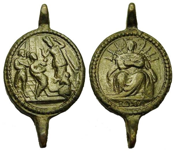 Varias medallas siete dolores de la Virgen María 2zibm8p