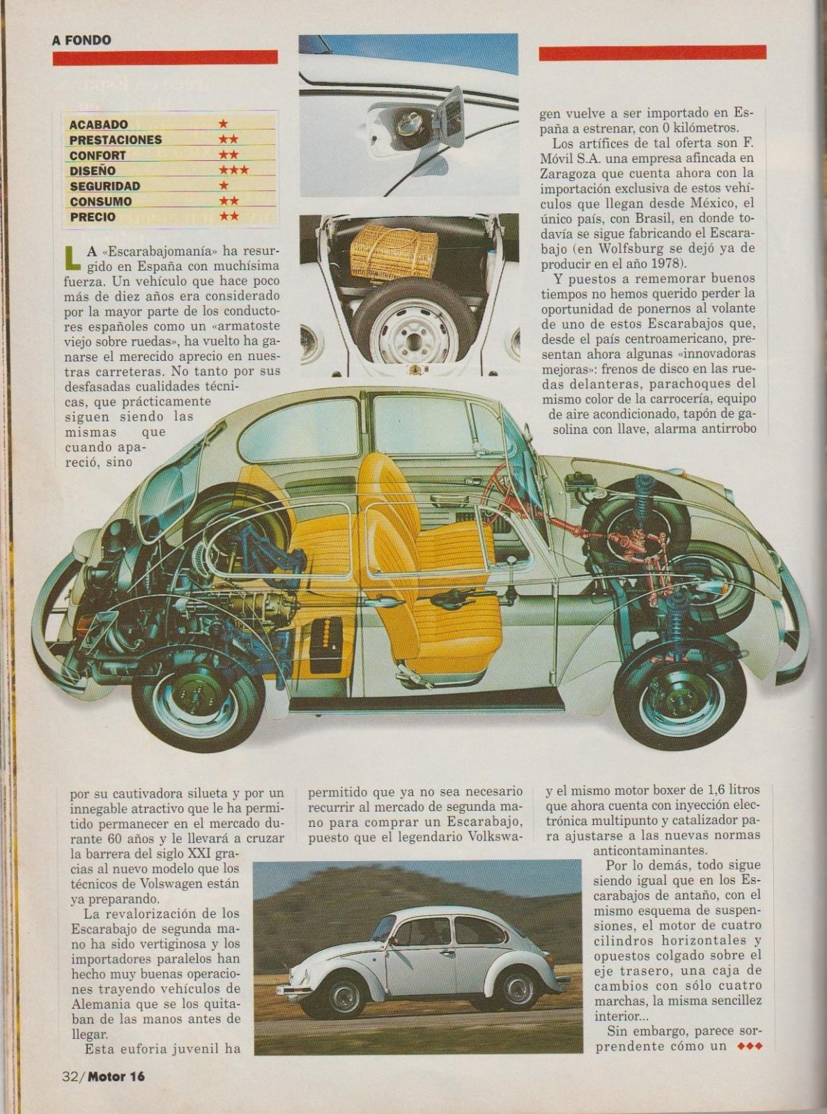 Prueba del Escarabajo 1600i por Motor 16 (1996) 2zin5ed