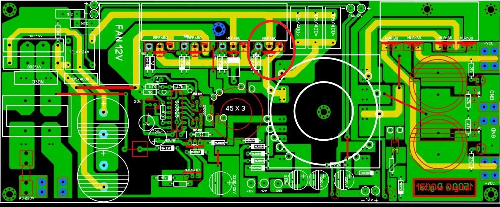 SMPS 2500W QUEIMANDO FET 30acd9e