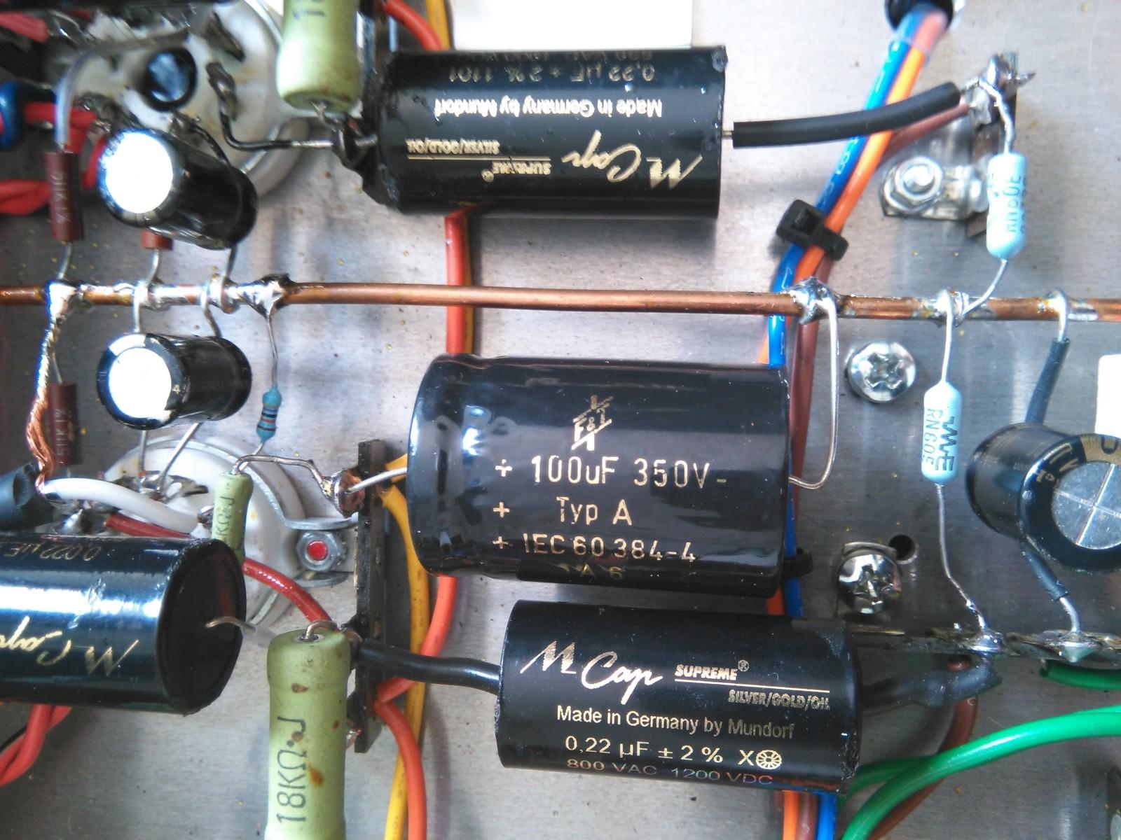 Cambio- elección de condensador señal audyn y duda con electrolitico al añadir polipropileno 30dclqb