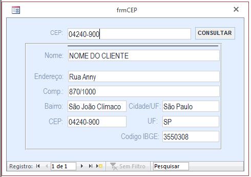 Busca CEP site ViaCEP 4t7cdv
