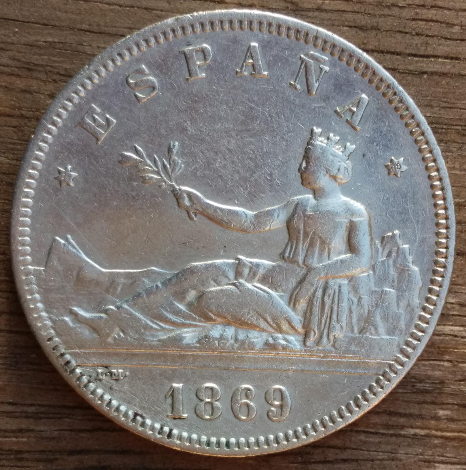 2 Pesetas 1869 Gobierno Provisional 6qb8rt