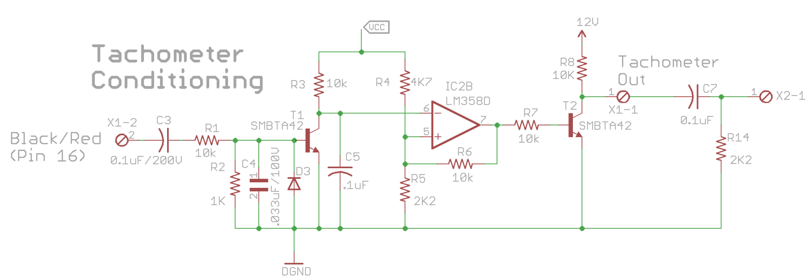 RPM Signal Conditioning Circuit to prevent aftermarket tachometer needle instability 6rorqb