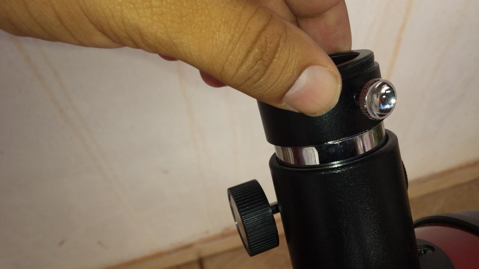 Não consigo foco com o Redutor focal  9kmtdy
