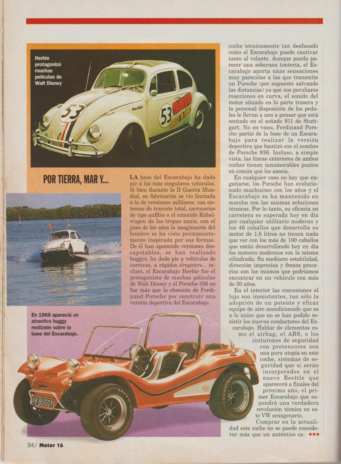 Prueba del Escarabajo 1600i por Motor 16 (1996) Aw408w