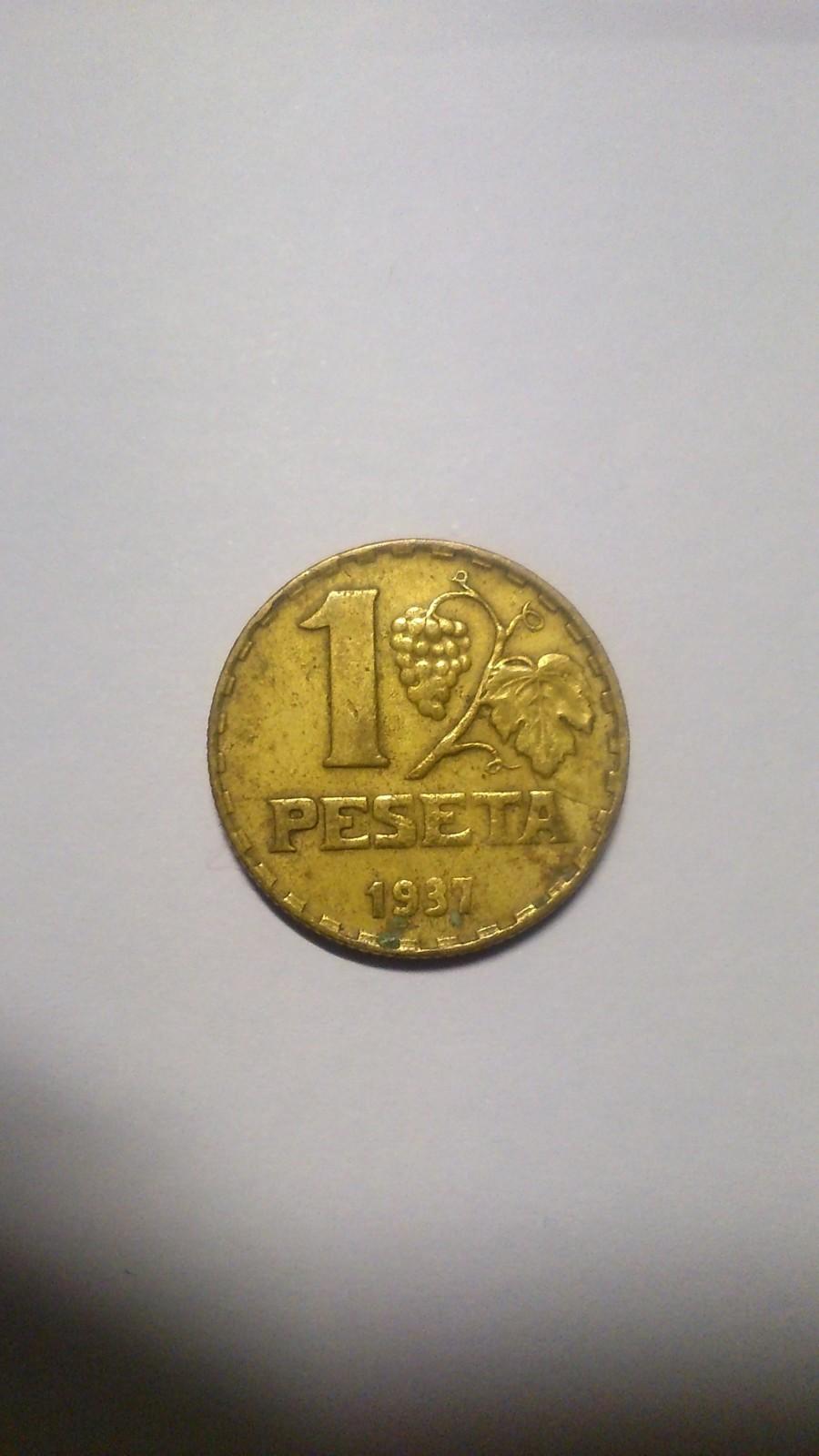 Limpieza de moneda de 1pta. de 1937 (II Rep. Española) B835ev