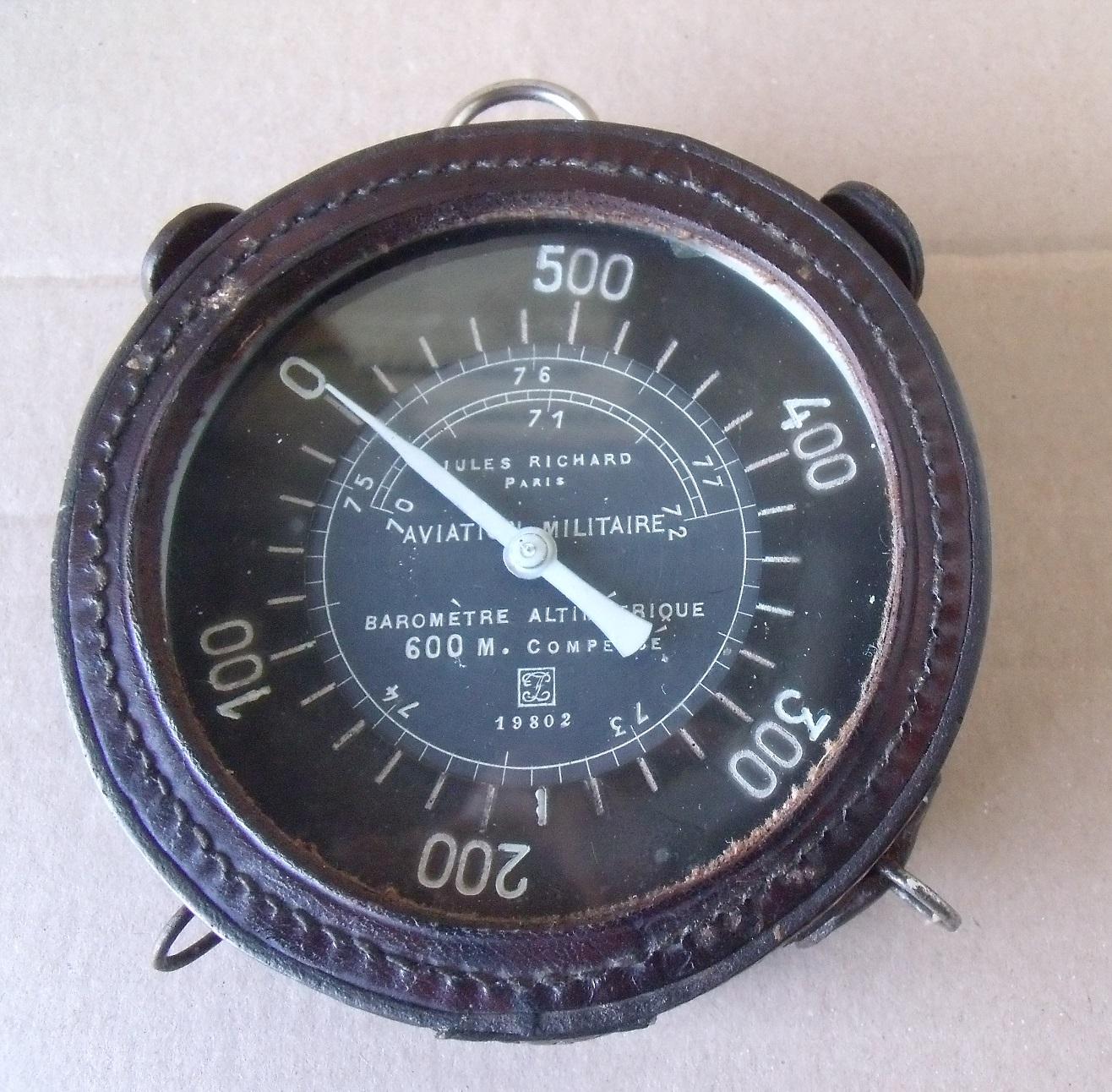"aviation /ancien altimètre 14/18  ""Jules Richard""  Bdk30j"