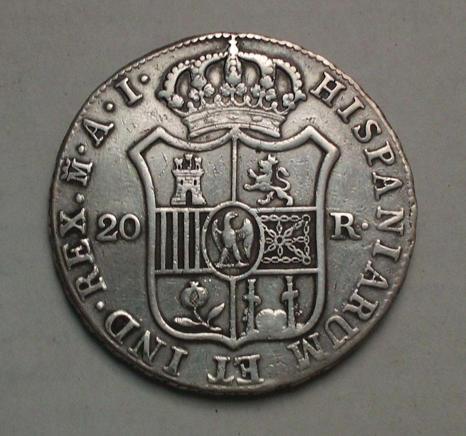 jose napoleon 20 reales 1809 madrid D788y