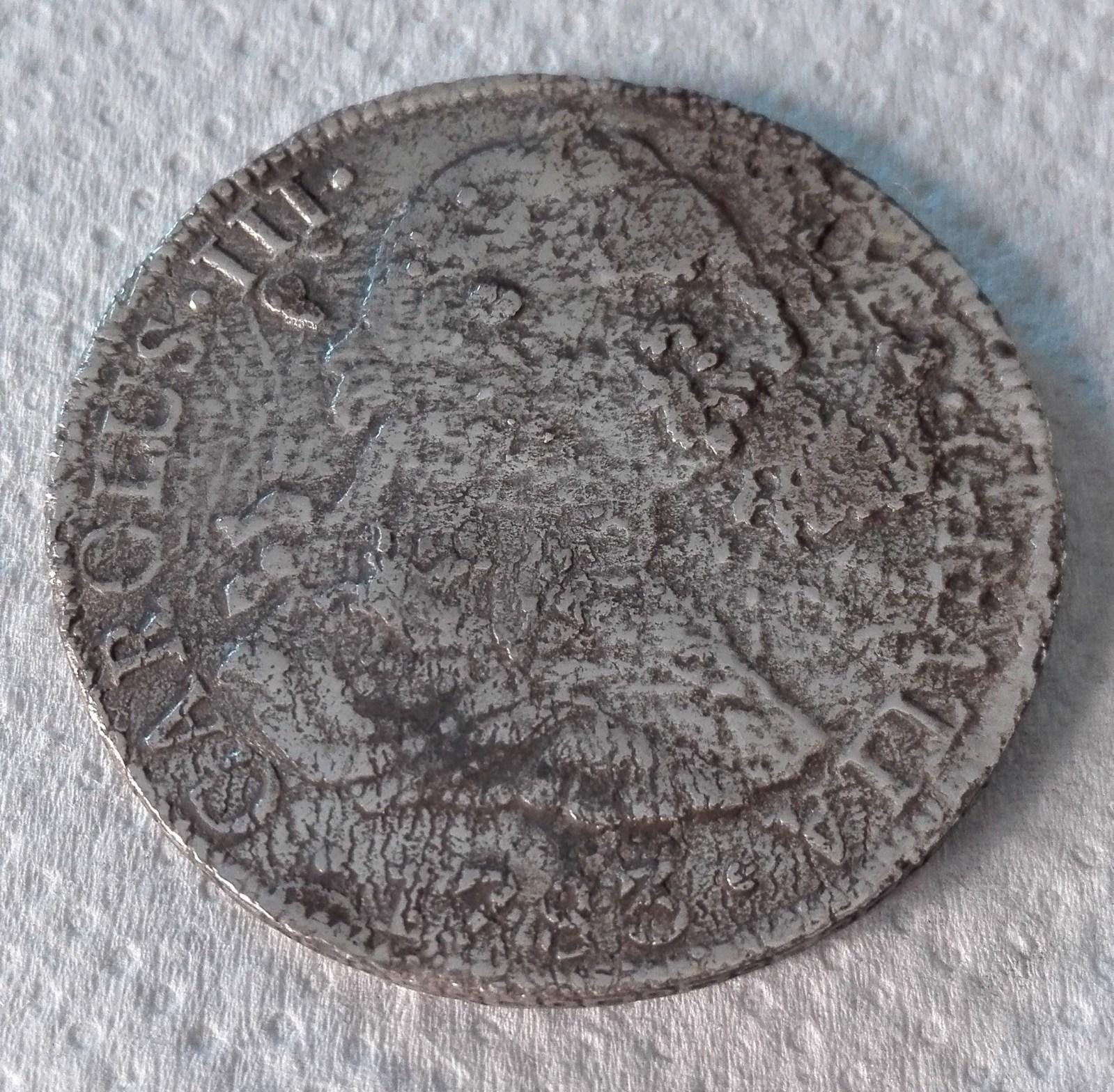 8 Reales. Carlos III. México. 1783. Procedente de El Cazador Do19io