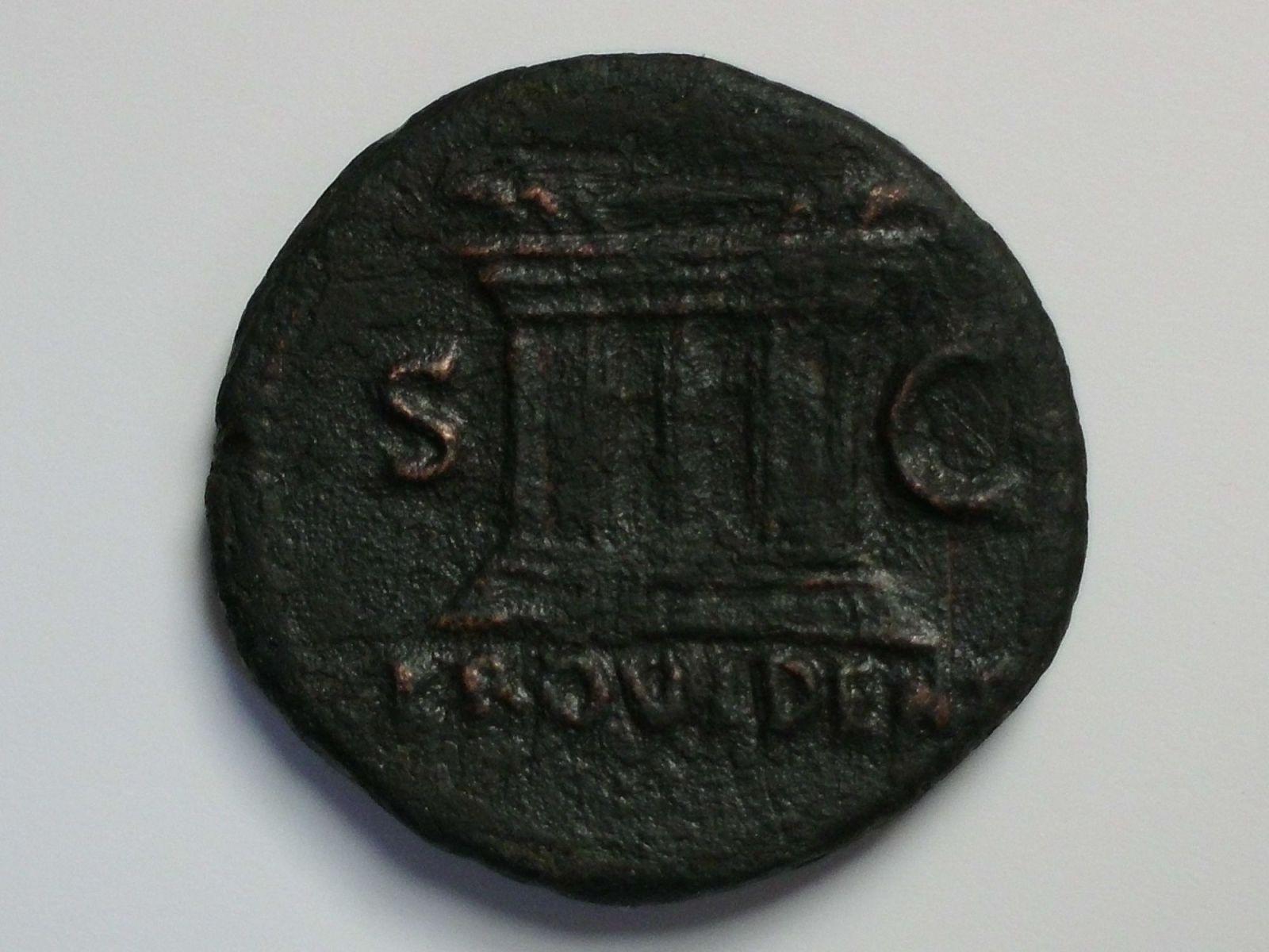As de Vespasiano. S C - PROVIDENT. Altar. Ceca Roma. Fjqkg8