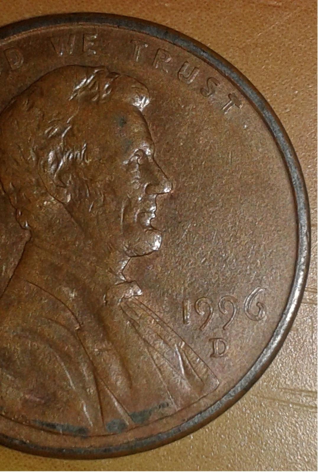 Moneda de un centavo U.S.A. 1996 Fwnhcj