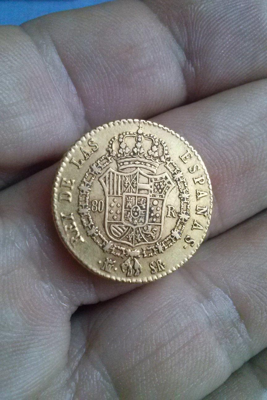 80 reales 1822. Fernando VII. Madrid Imothl
