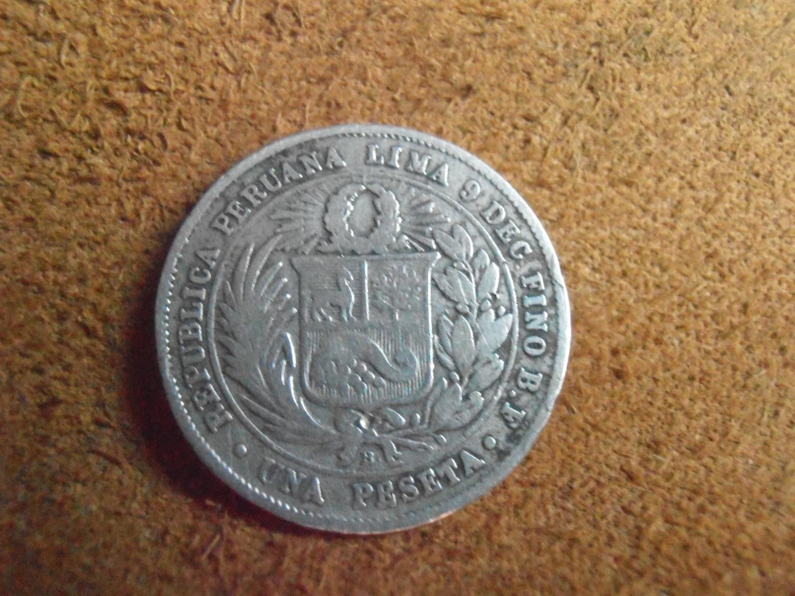 1 peseta 1880 peruana  M73sjc