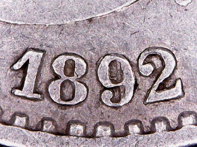 50 Centimos 1892 Estrella *9 *2 o Estrella *8*2 N6e4xc