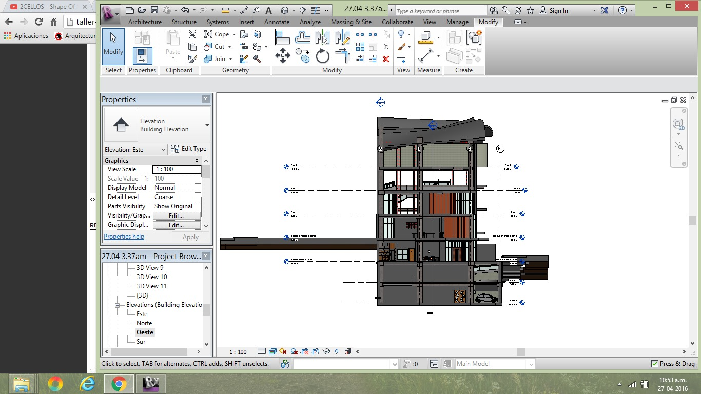 Visualización de fachadas (elevations)   R8uk5u