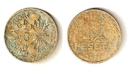 1 peseta Malaga Snmpmc