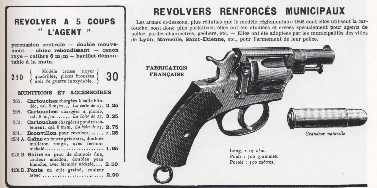 revolver 8mm agent T8on49