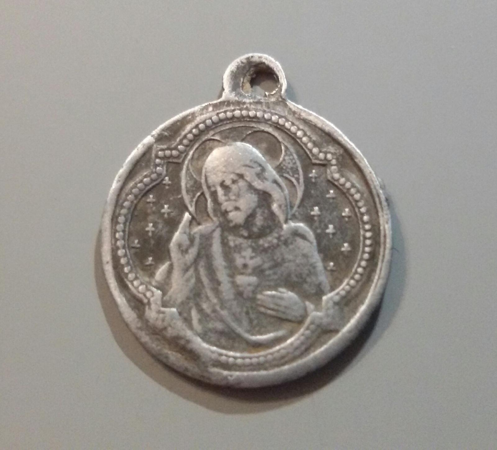 medalla del Sgdo. Corazón de Jesús / Sgdo. Corazón de María - s. XX W9xyd4