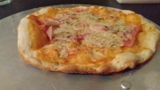 Pizza na pedra sabão e forno de fogão caseiro simples X91jp