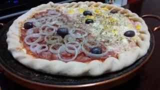 Pizza na pedra sabão e forno de fogão caseiro simples Zjdpc5