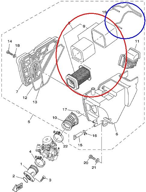 Carburador - Limpeza do Filtro de Ar Lavável - Procedimento para YBR e Factor c/ Carburador 10rtsom