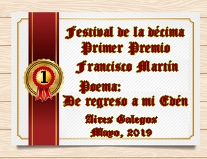 PREMIACIÓN DEL FESTIVAL DE LA DÉCIMA Y EL COLOR / MAYO 2019/ POESÍA CLÁSICA Y LIBRE 16aa7ap