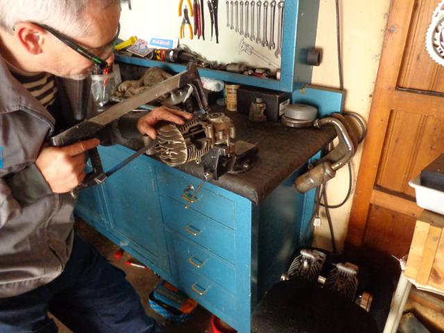 Motor seccionado para exposición 1zptvfn