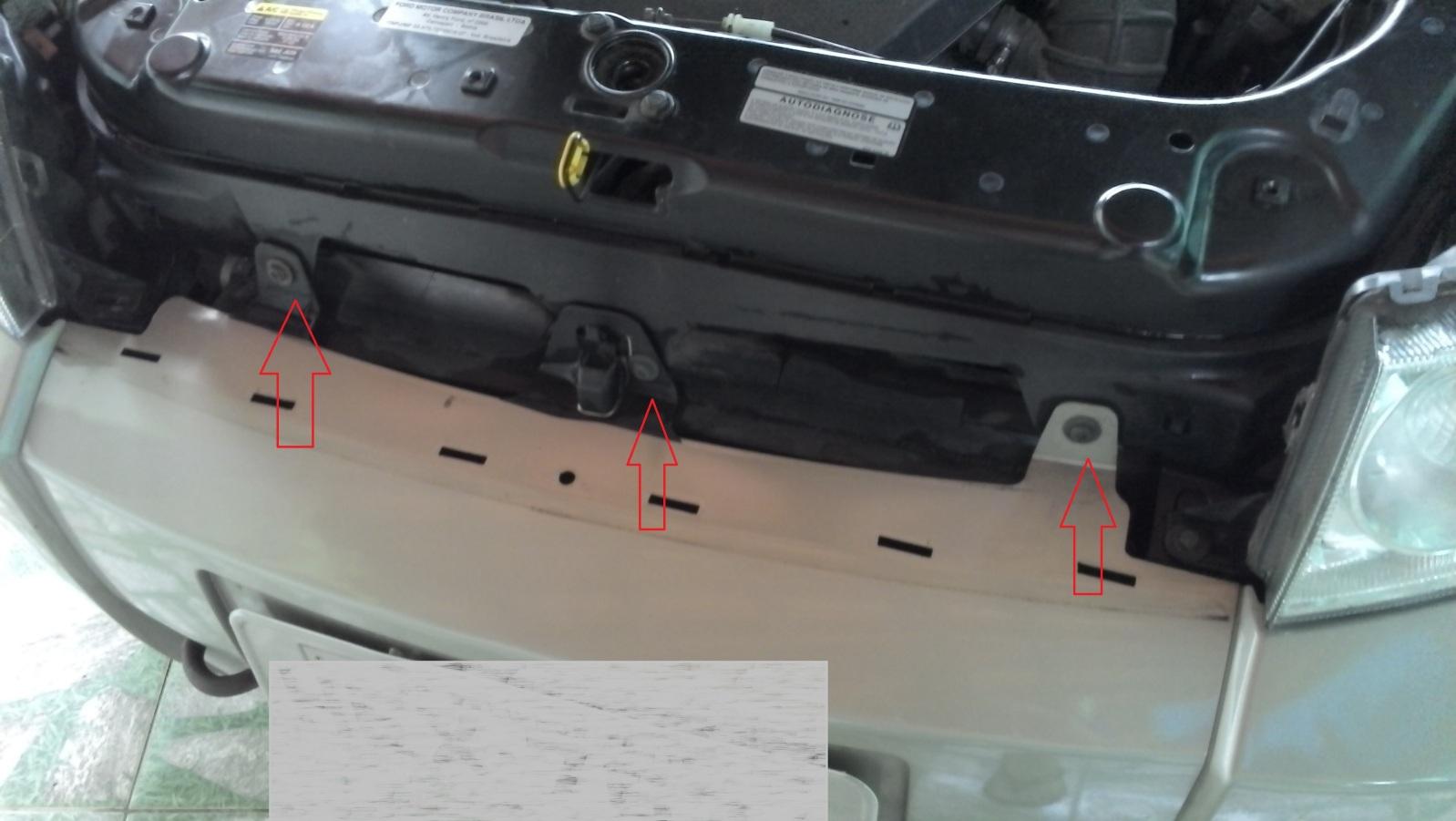 Retirar a grade dianteira do Ecosport 2012 modelo antigo 214yqnd