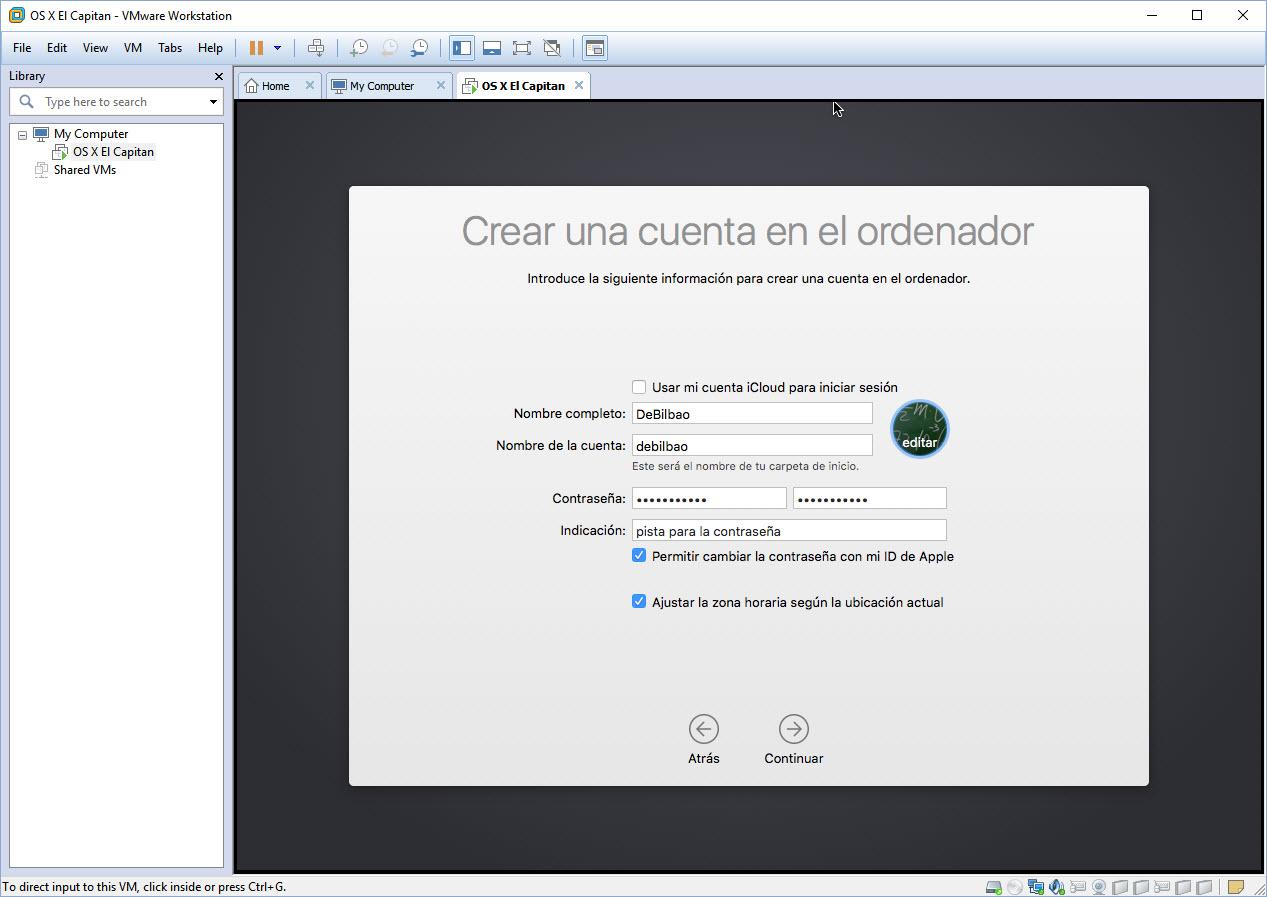 [TUTORIAL] VMWARE: INSTALANDO OS X EL CAPITÁN EN OS X Y WINDOWS... A LA BILBAÍNA 219v0he