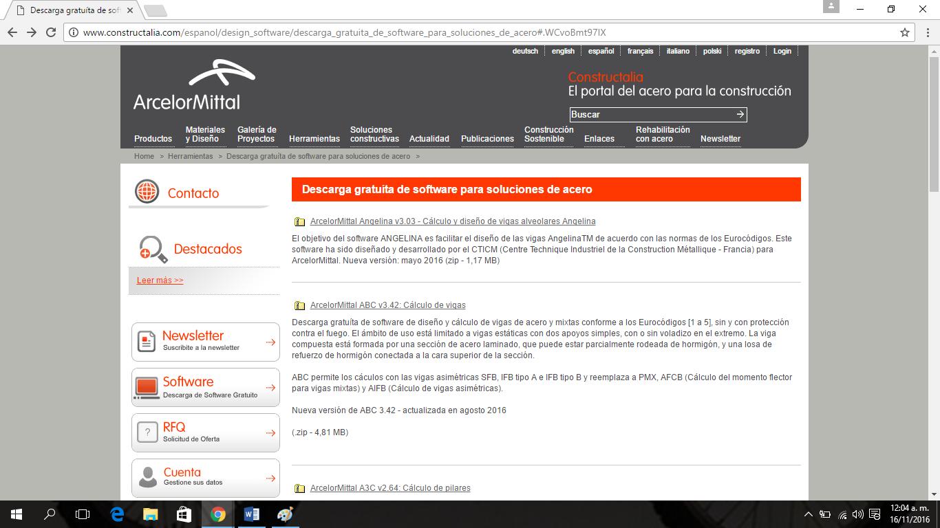 ArcelorMittal Angelina v3.03 - Cálculo y diseño de vigas alveolares Angelina 2eqh1f8