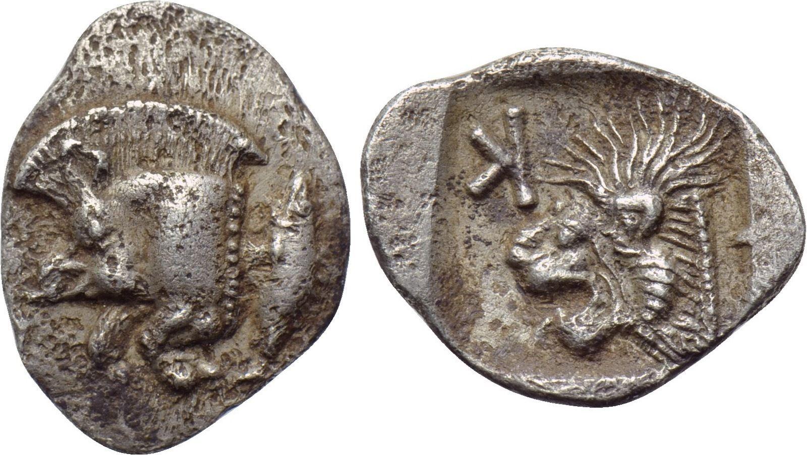 Óbolo de Kyzikos de la regíon de Mysia a identificar 2ewp07k