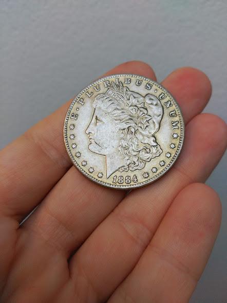 Estados Unidos 1 dólar, morgan 1884 2h73upd