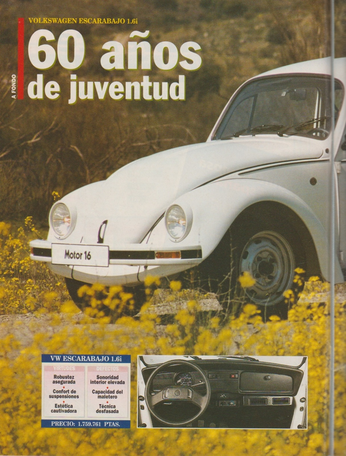 Prueba del Escarabajo 1600i por Motor 16 (1996) 2i097hz