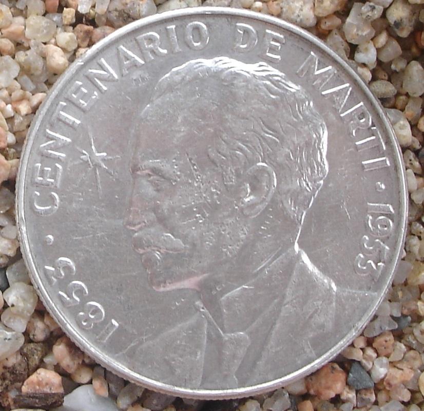 1 Peso (Centenario de José Martí). Cuba. 1953 2ijp8av