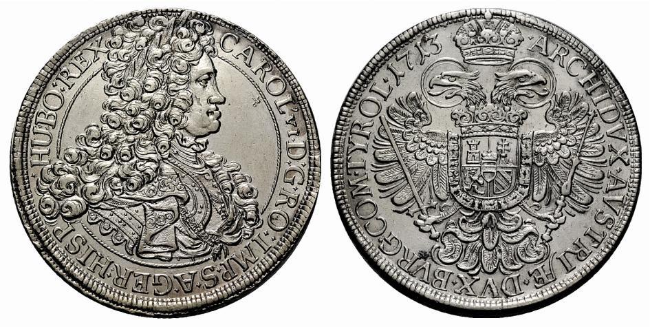 pretendiente - Taler Archiduque Carlos VI, pretendiente a la corona española 2ik3ath
