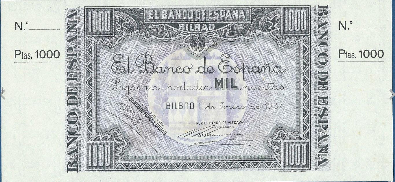 1000 Pesetas Banco de Bilbao, 1937 2nrh7yg