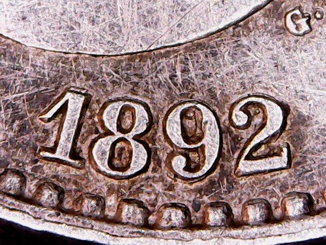 50 Centimos 1892 Estrella *9 *2 o Estrella *8*2 34zx7aw