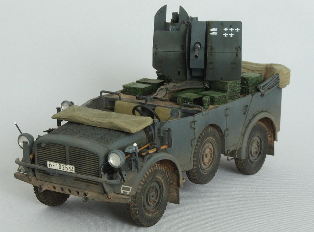 Horch Typ 1a w/2cm Flak 38 конверсия Tamiya+Dragon 1/35 5kgkn4