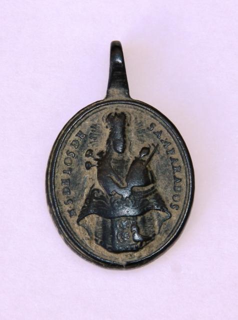 Medalla N.S. Desamparados / San Cristóbal S.XVIII 5kn5om