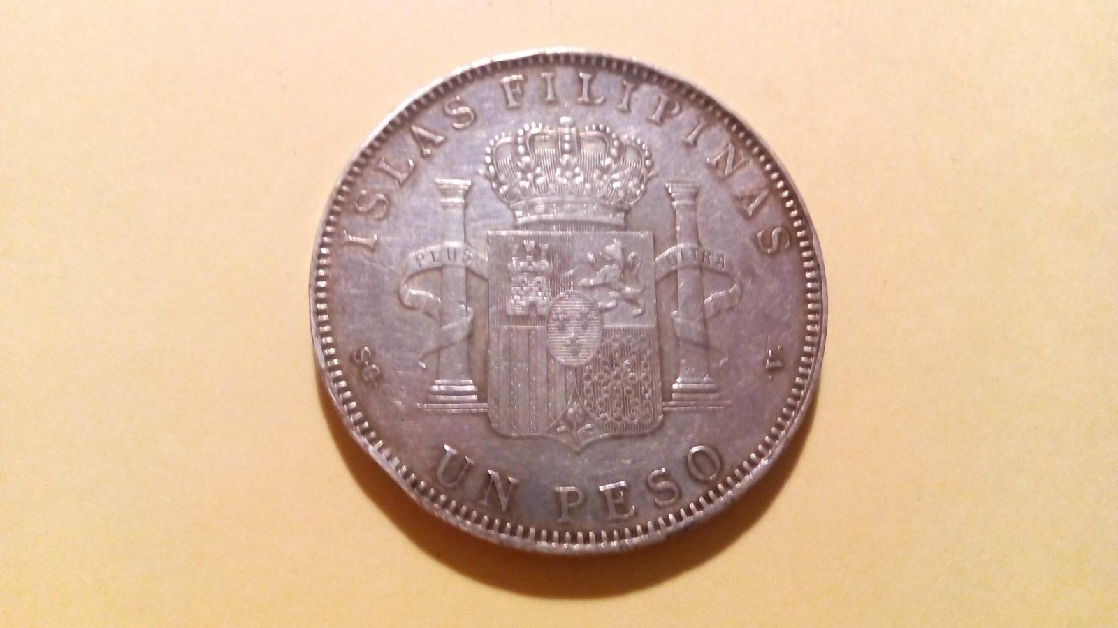 1 peso Filipinas 1897 5pj5ld