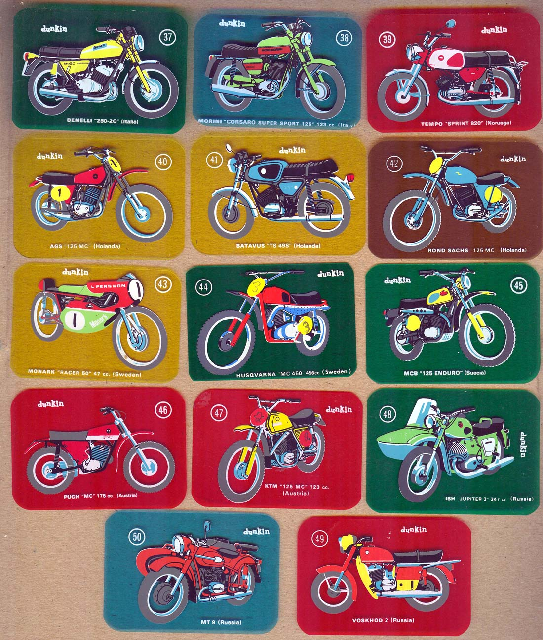 Las motos del chicle Dunkin 67mkie