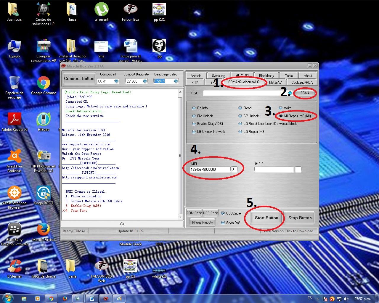 Reparar Imei HAIER W861 QUALCOMM con MIRACLE 2.27a 6gv66p