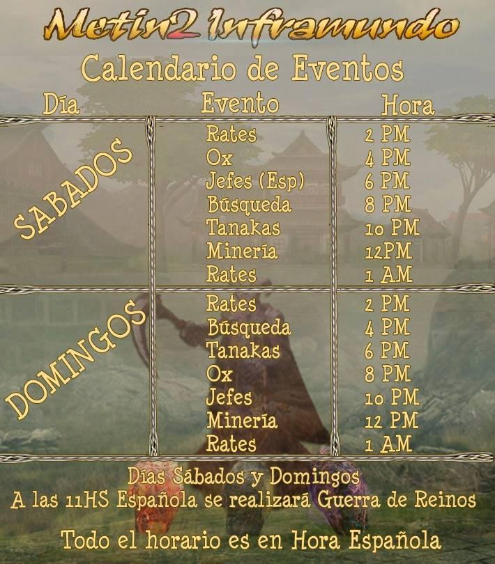 Calendario de Evento Inframundo 73oya1