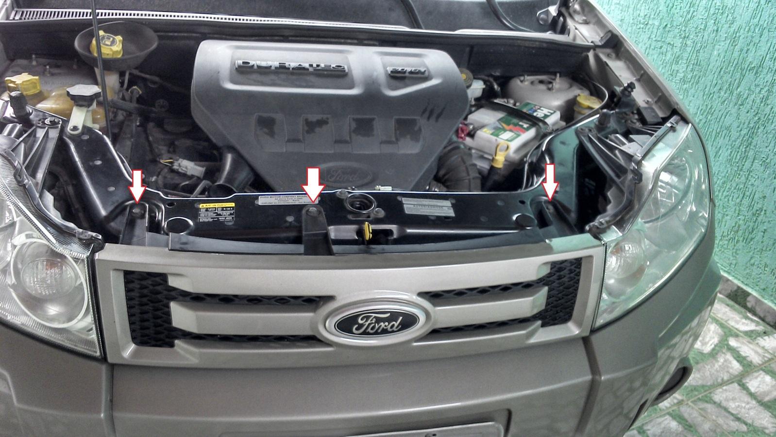 Retirar a grade dianteira do Ecosport 2012 modelo antigo 8y9h5x