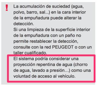 ARRANQUE ACCESO MANOS LIBRES (PROBLEMA AL LAVAR COCHE) A13b5
