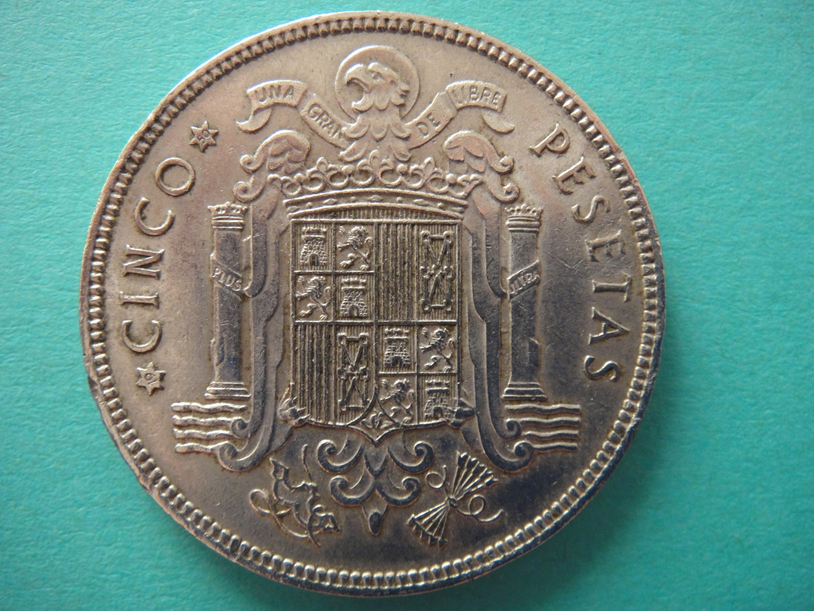 5 pesetas 1949 (*19-50). Estado Español Aey4xd